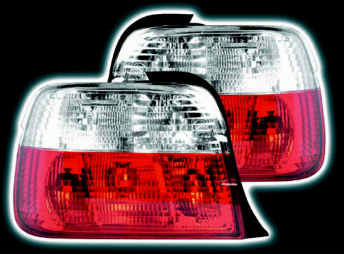 BMW Compact jewel red/ clear rear lights